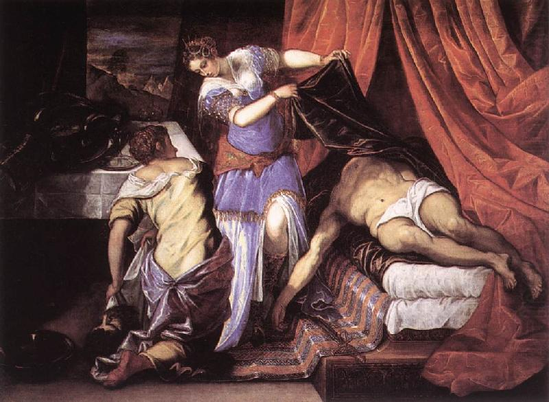 Judith and Holofernes ar, TINTORETTO, Jacopo