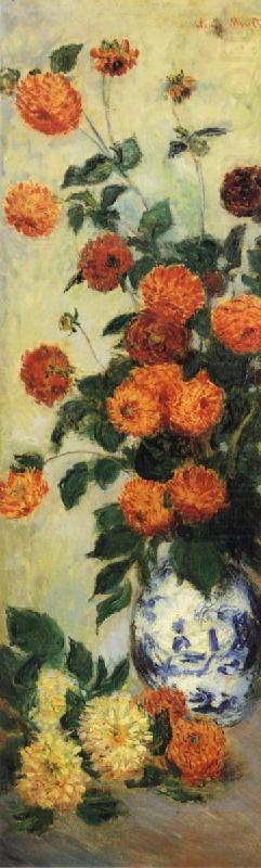 Dahlias, Claude Monet