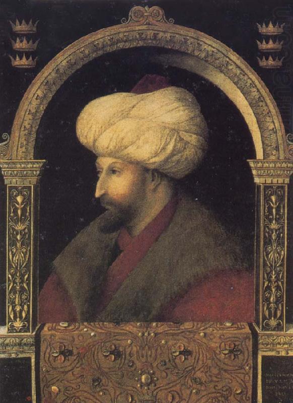 Portrait of the Ottoman sultan Mehmed the Conqueror ...