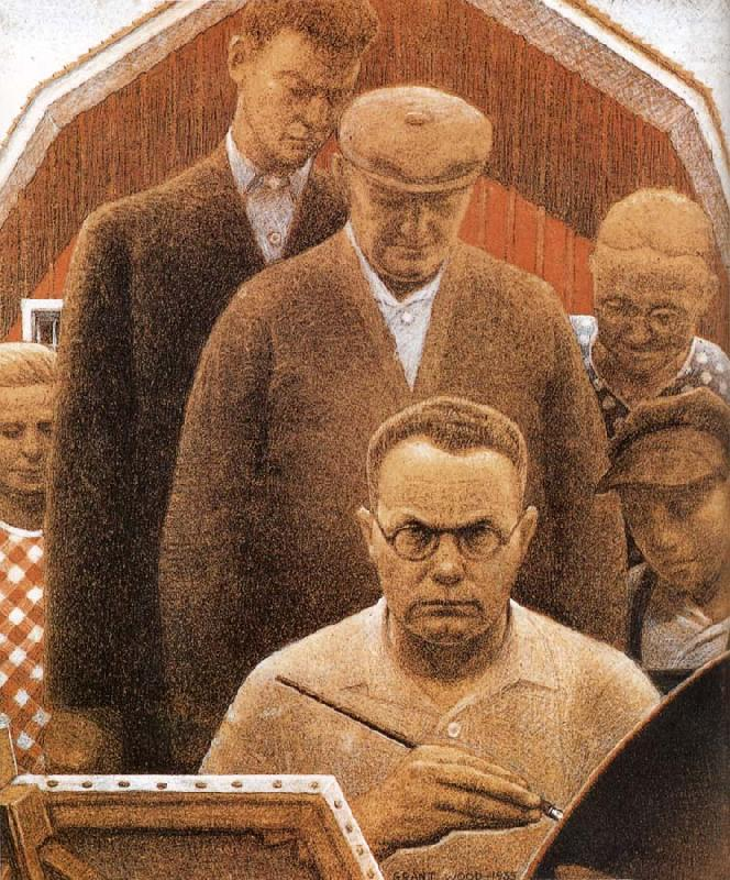 Returned from Bohemia, Grant Wood