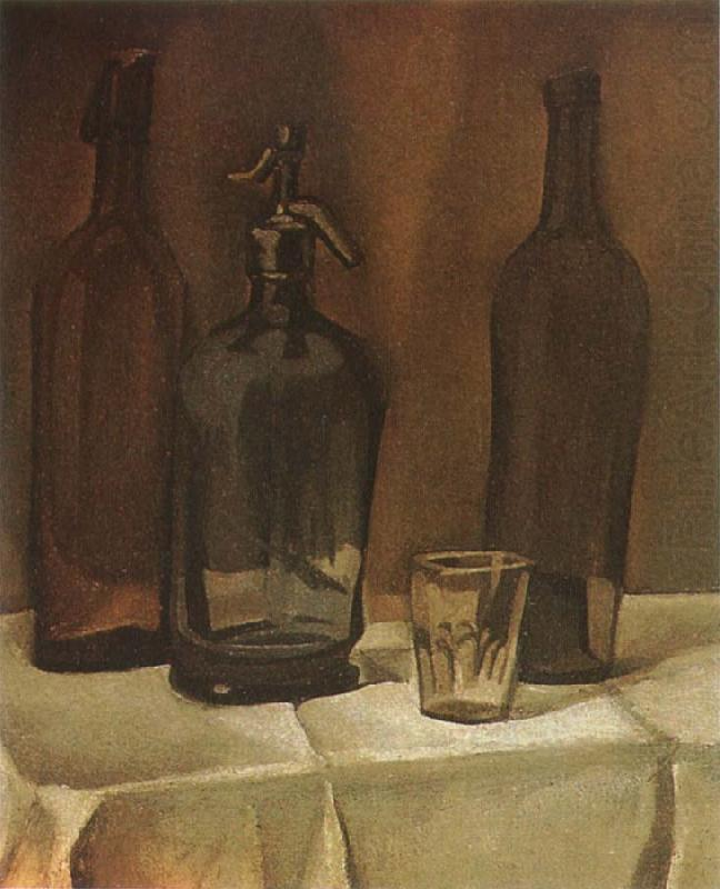 Siphon and winebottle, Juan Gris