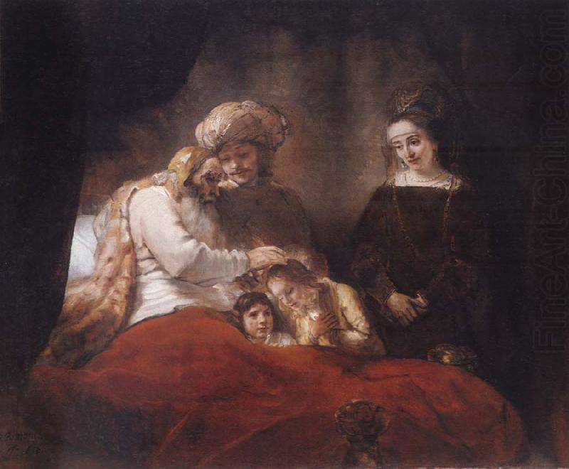 Jacob Blessing the Sons of Joseph, REMBRANDT Harmenszoon van Rijn