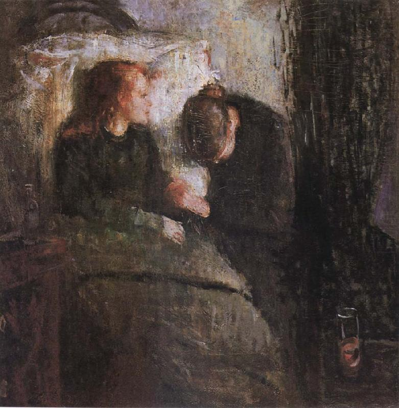Edvard Munch The Children is ill
