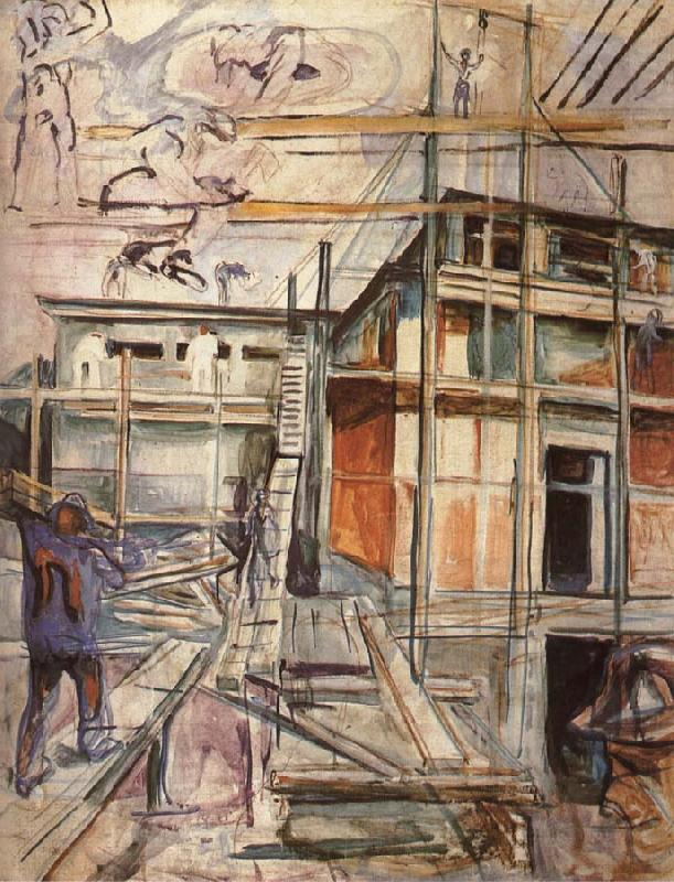 Workroom building in winter, Edvard Munch
