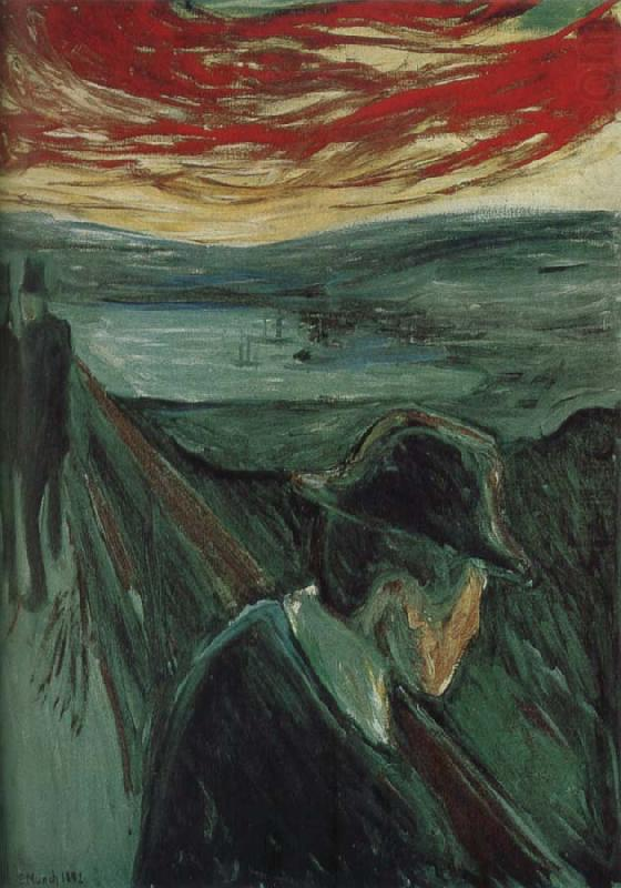 despair edvard munch For christian munch, who was struggling to pay the expenses of his son's education, edvard's association with dubious companions was a source of anguish edvard, too, was torn though he lacked his father's faith in god, he had nonetheless inherited his sense of guilt.