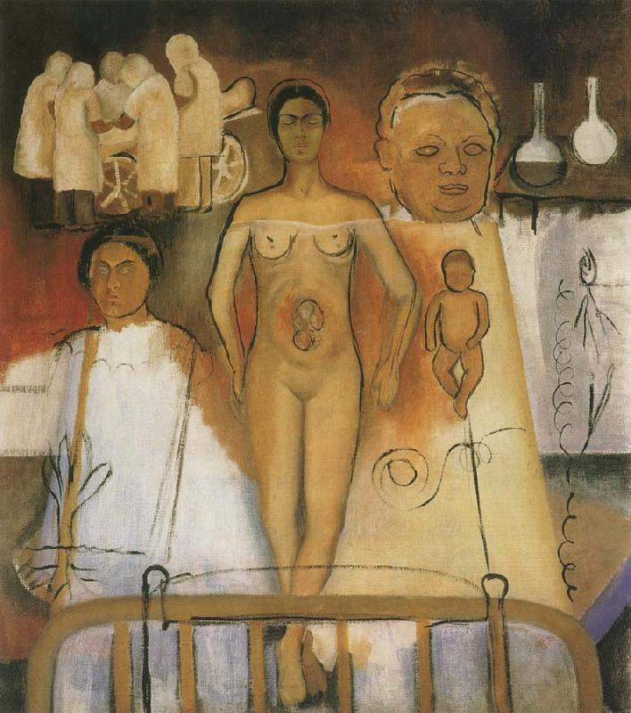 Kahlo and Caesarean operation, Frida Kahlo