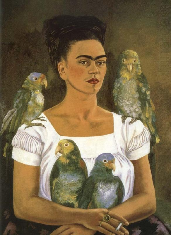 I and parrot, Frida Kahlo