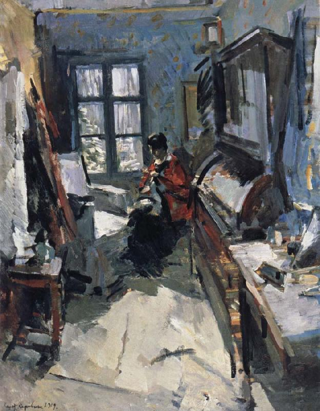 In the room, Konstantin Korovin