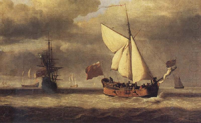 The Yacht Royal Escape Close-hauled in a Breeze, VELDE, Willem van de, the Younger