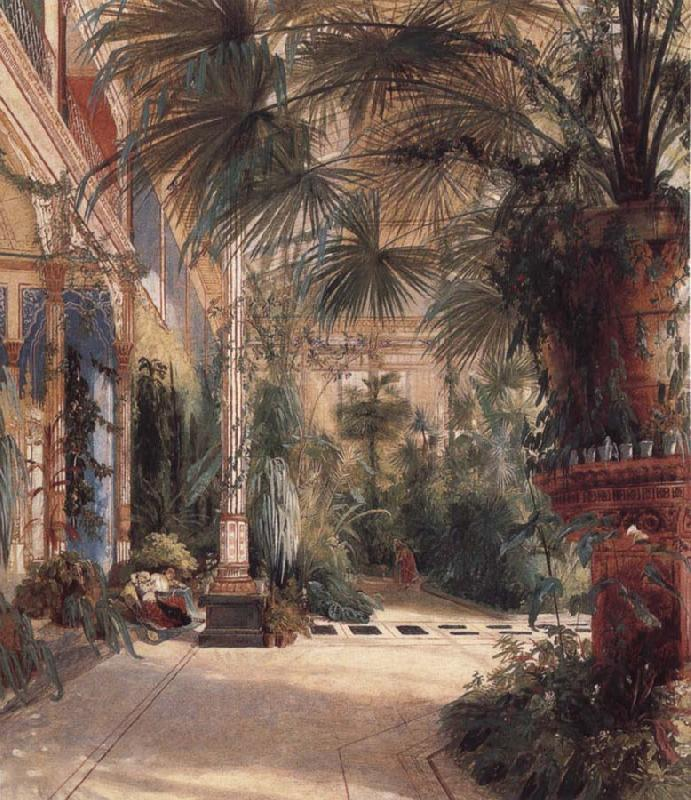 The Palm House on the Pfaueninel, Carl Blechen