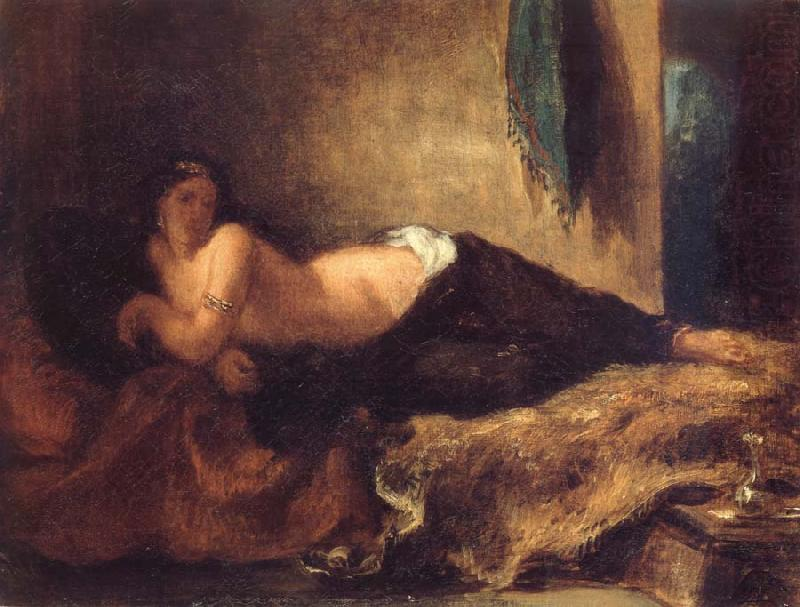 Odalisque Lying on a Couch, Eugene Delacroix