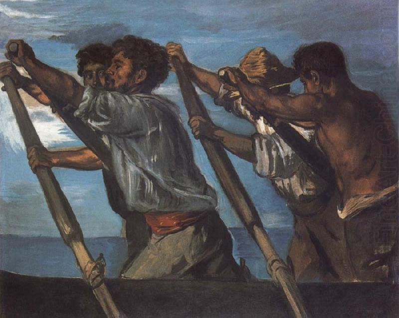 Oarsmen.Study for a Fresco at the Zoological Station in Naples, Hans von Maress