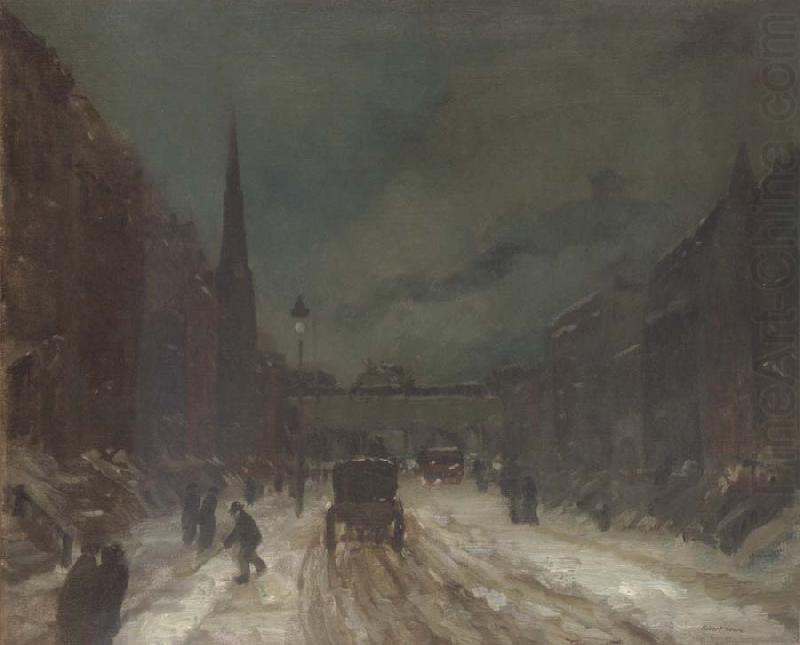 Street Scene With Snow Robert Henri Wholesale Oil Painting