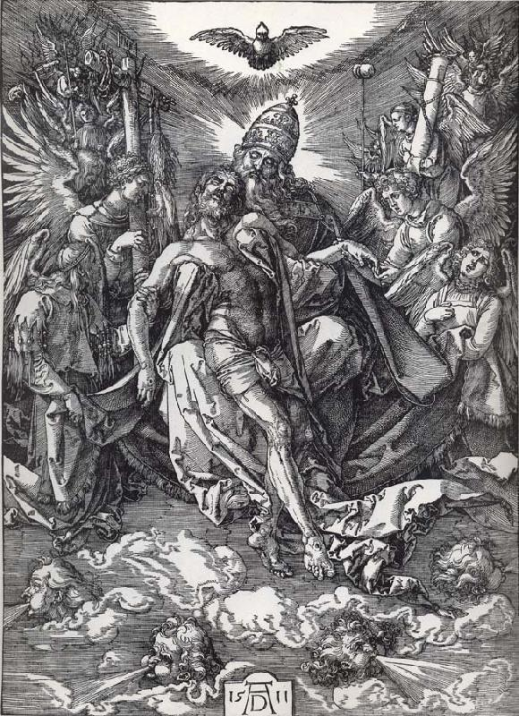 The holy trinity, Albrecht Durer