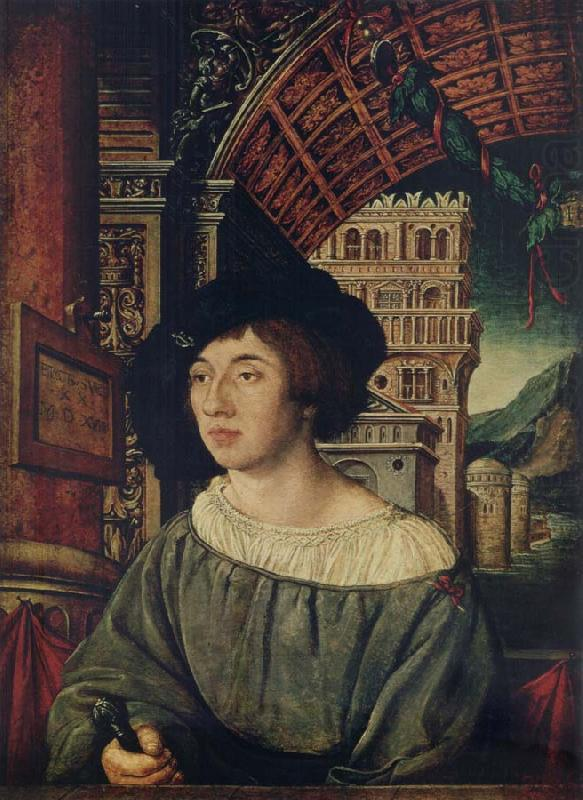 Portrait of a young man, Ambrosius Holbein