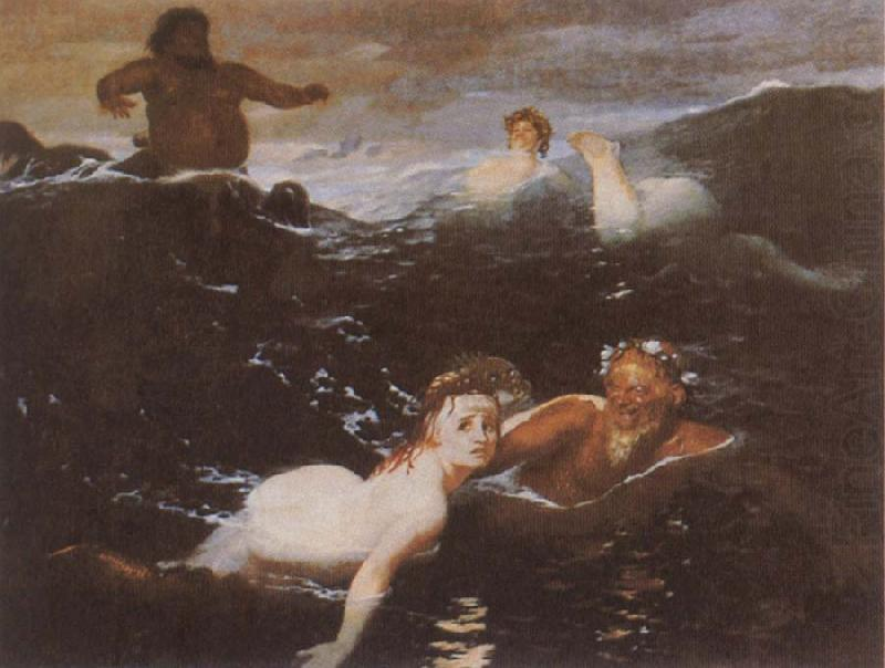 Playing in the Waves, Arnold Bocklin