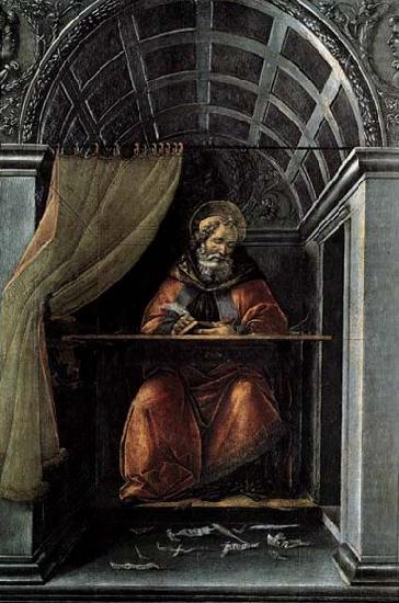 St Augustine in His Cell, BOTTICELLI, Sandro