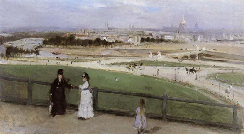 Face on Paris from Trocadero, Berthe Morisot