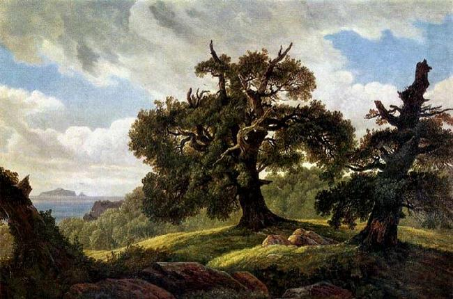 Oaks at the Sea Shore, Carl Gustav Carus
