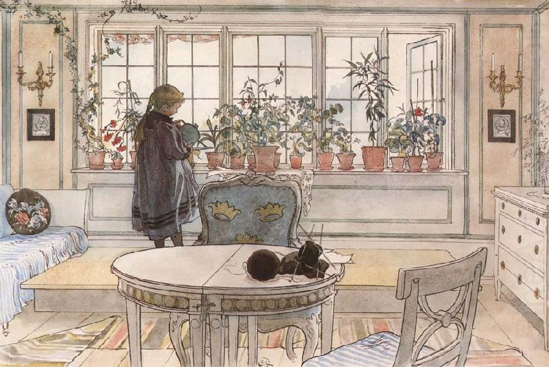 Vacation Reading Assignment, Carl Larsson