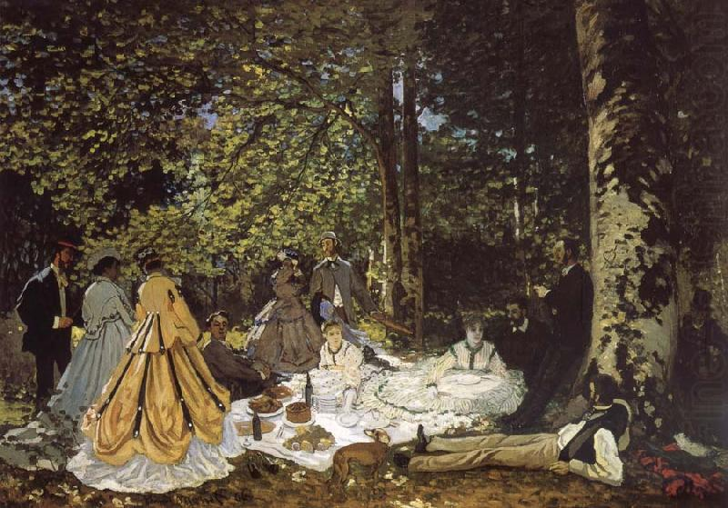 sketch for De picnic Shut down Claude Monet