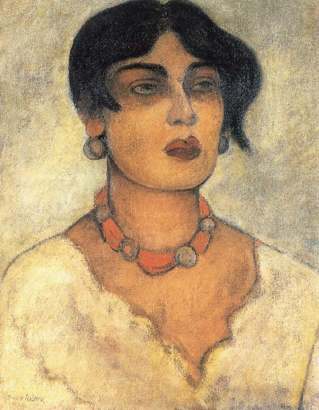 Diego Rivera Portrait of a girl