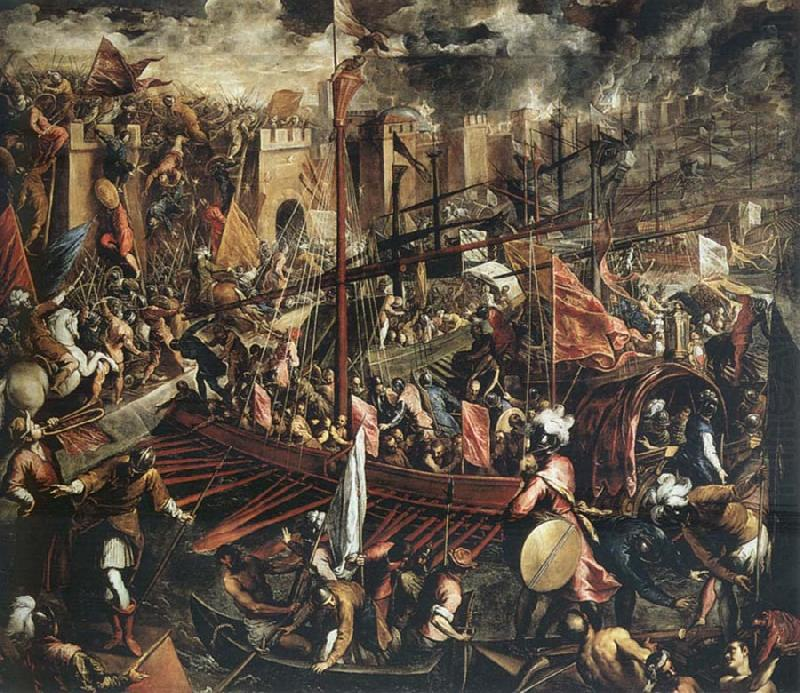 The Conquest Of Constantinople Domenico Tintoretto