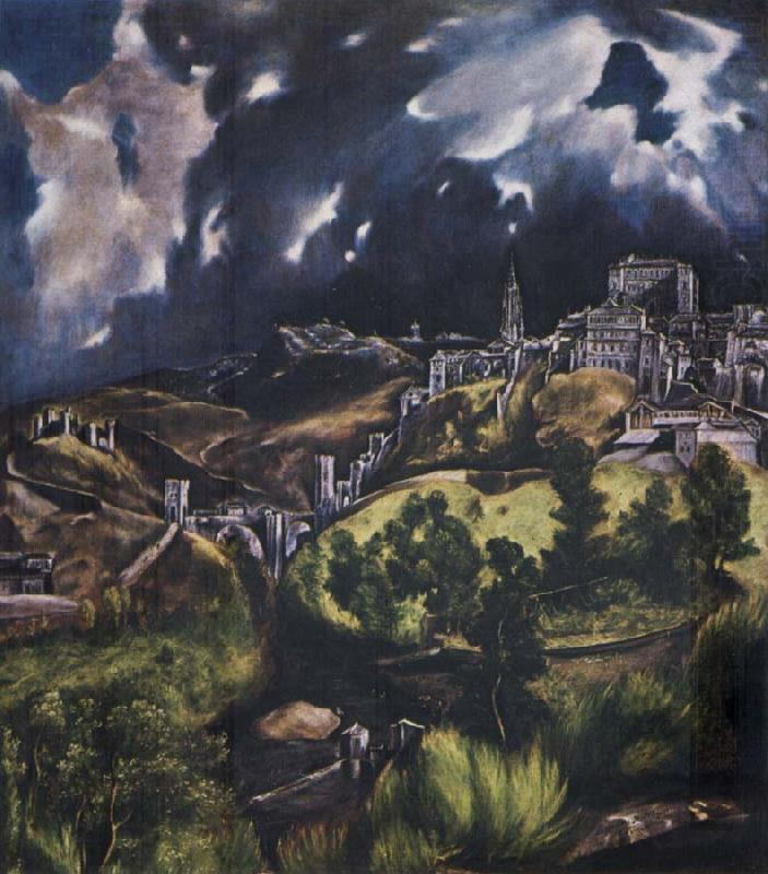 view of toledo el greco wholesale oil painting china