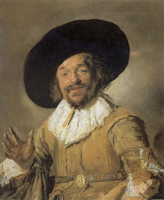 The cheerful drinder, Frans Hals