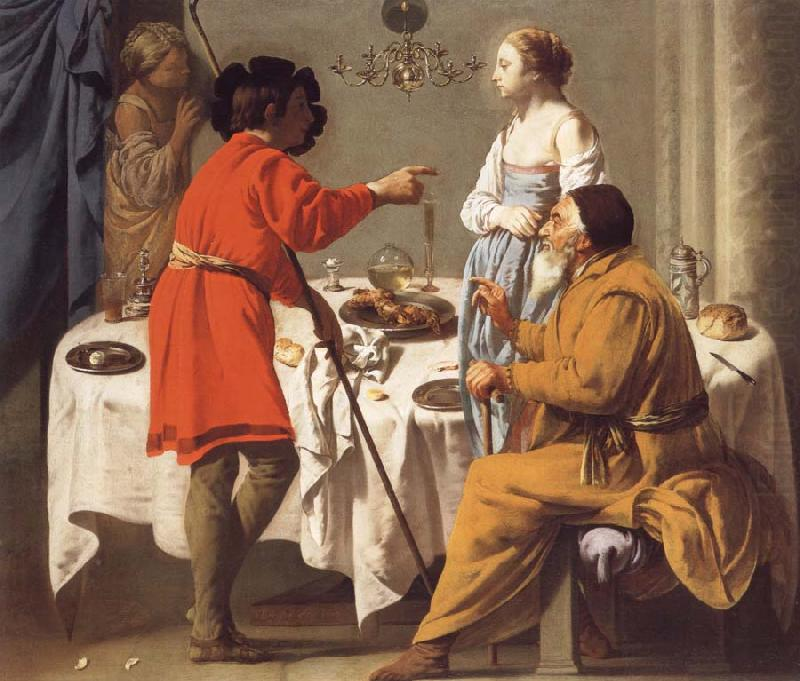 Jacob Reproaching Laban for giving Him Leah in Place of Rachel, Hendrick the Brugghen