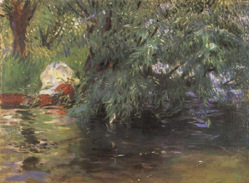 A Backwater Calcot Mill Near Reading, John Singer Sargent