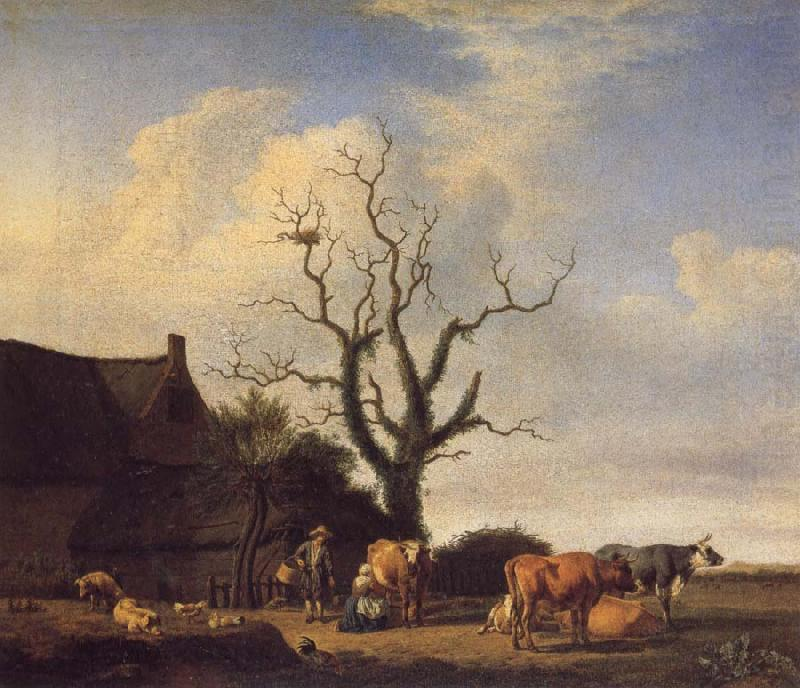 A Farm with a Dead Tree, VELDE, Adriaen van de