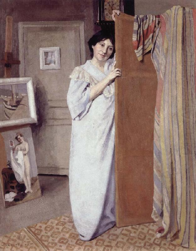 Gabrielle Vallotton in the Studio, Felix Vallotton