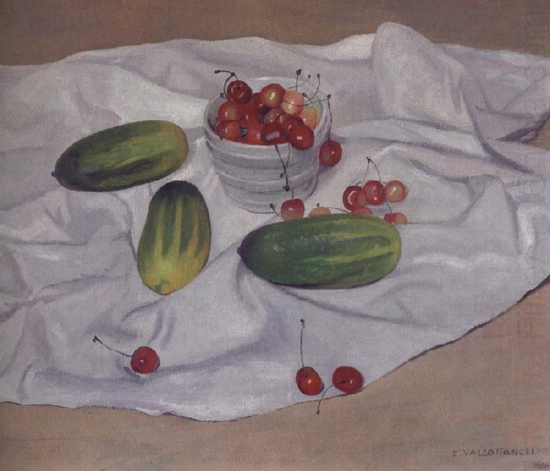 Still life with Cucumbers, Felix Vallotton