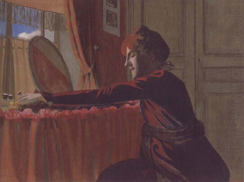 Gabrielle Vallotton at her Dressing Table, Felix Vallotton
