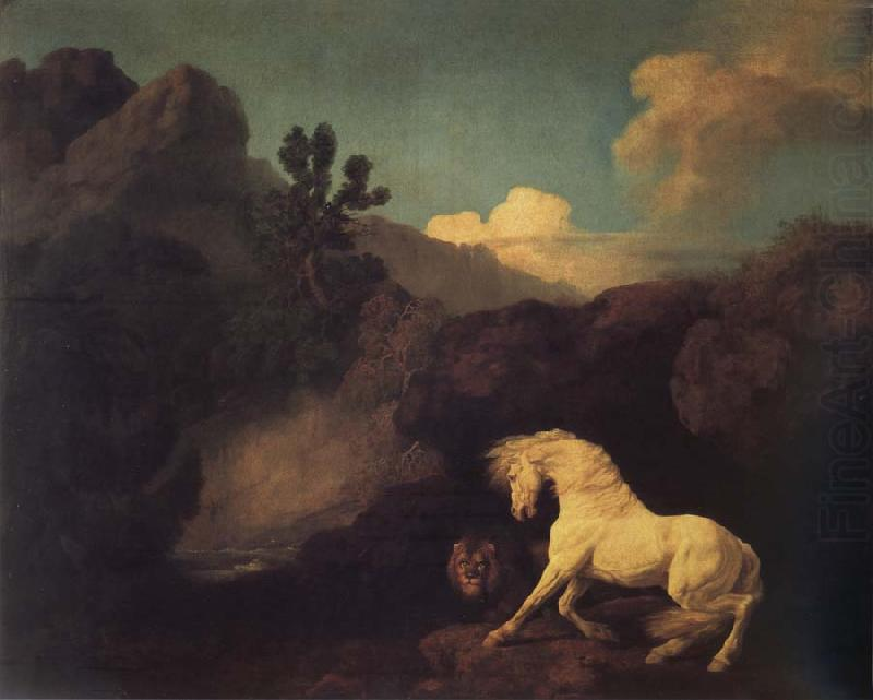 A Horse Frightened by a Lion, George Stubbs