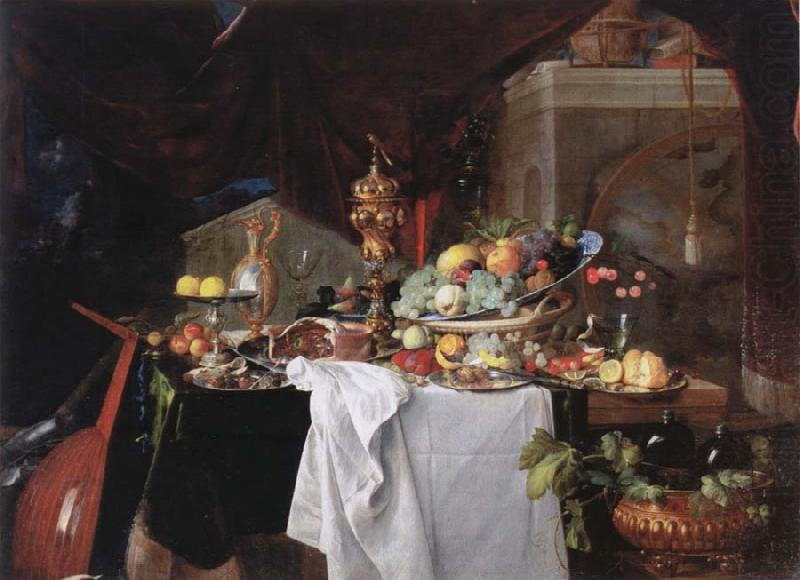 Table with desserts, Jan Davidz de Heem