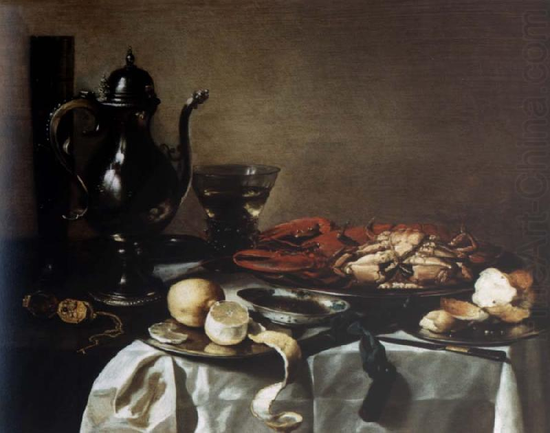 Style life with lobster and crab, Pieter Claesz
