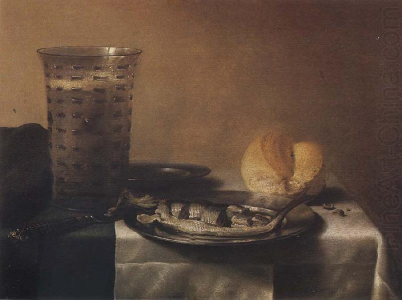 Style life with herring, Pieter Claesz