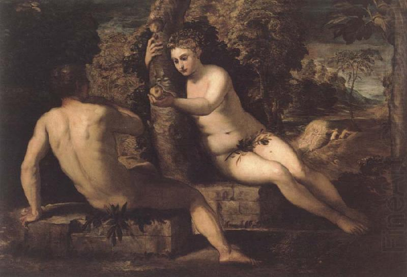 The funf senses with landscape, Tintoretto