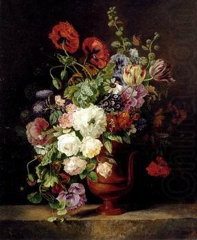 Floral, beautiful classical still life of flowers.078, unknow artist