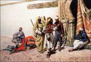 Arab or Arabic people and life. Orientalism oil paintings  307, unknow artist