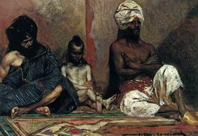 Arab or Arabic people and life. Orientalism oil paintings 610, unknow artist