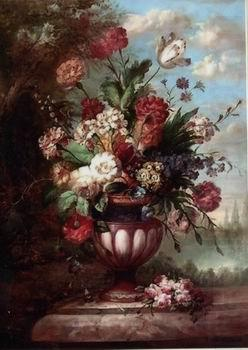 Floral, beautiful classical still life of flowers.069, unknow artist