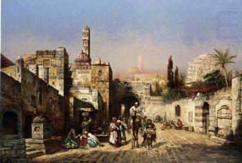 Arab or Arabic people and life. Orientalism oil paintings  381, unknow artist