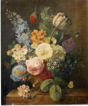 Floral, beautiful classical still life of flowers.040, unknow artist