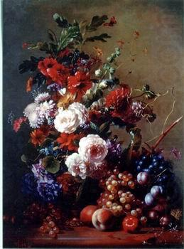 Floral, beautiful classical still life of flowers.068, unknow artist