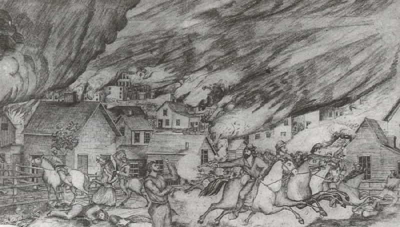 Quantrill-s Raid on Lawrence,August 21, unknow artist