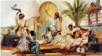 Arab or Arabic people and life. Orientalism oil paintings 606, unknow artist