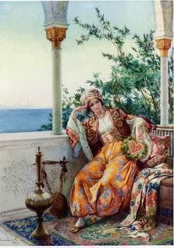 Arab or Arabic people and life. Orientalism oil paintings 569, unknow artist